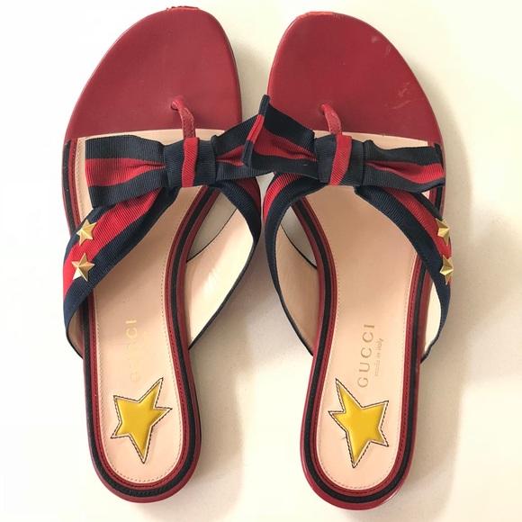 ca24ff5cc8b Gucci Shoes - Gucci Aline Bow Sandals